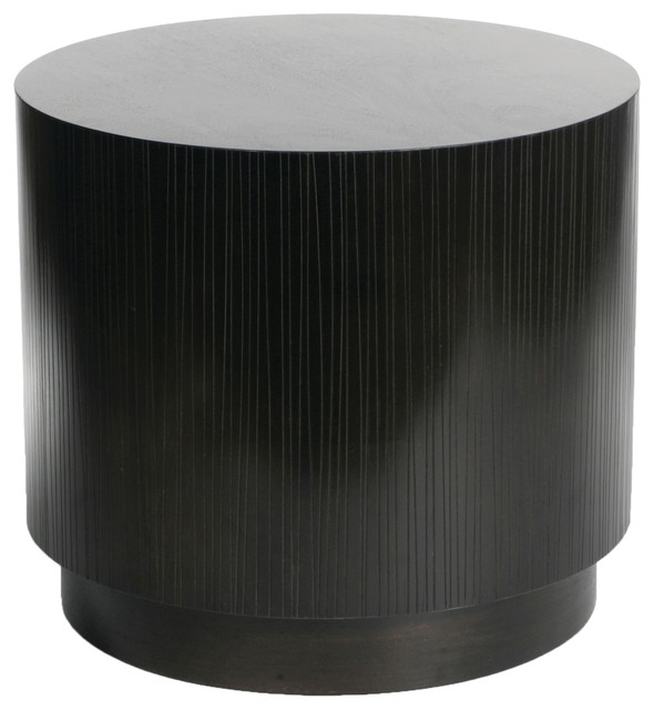 Quot Garis Quot Block Cylinder Side Table Transitional Side