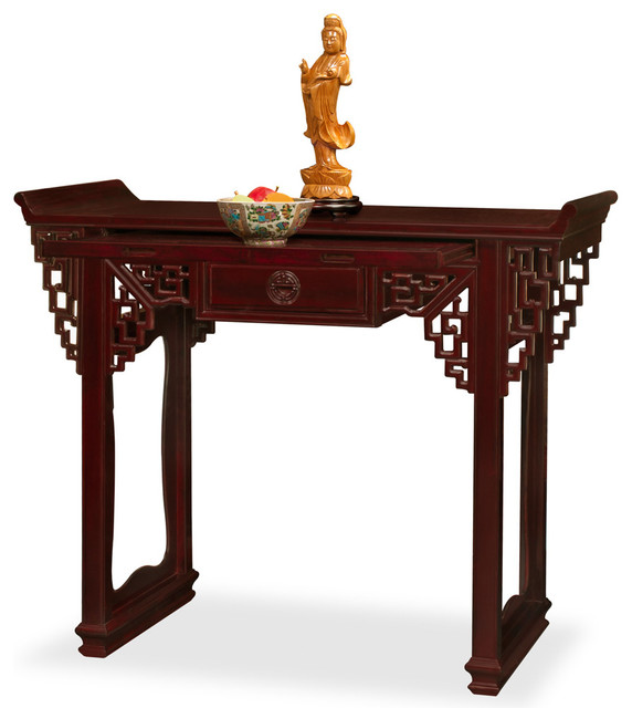 Rosewood Altar Style Console Table Asian Console Tables