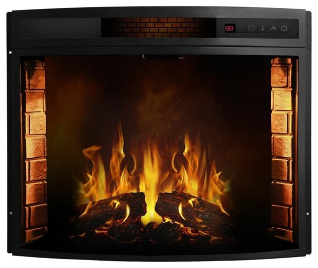 Regal Flame 33 Curved Ventless Heater Electric Fireplace Insert