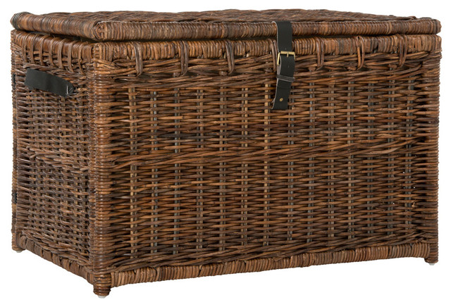 Happimess Michael 35 Quot Wicker Storage Trunk Tropical