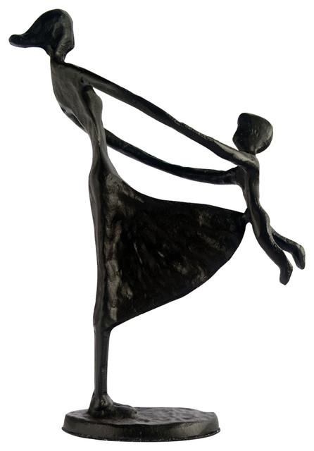 Elur Mother and Child Swinging Iron Figurine