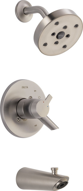 Delta Compel Monitor 17 Series H2Okinetic Tub & Shower Trim, Stainless