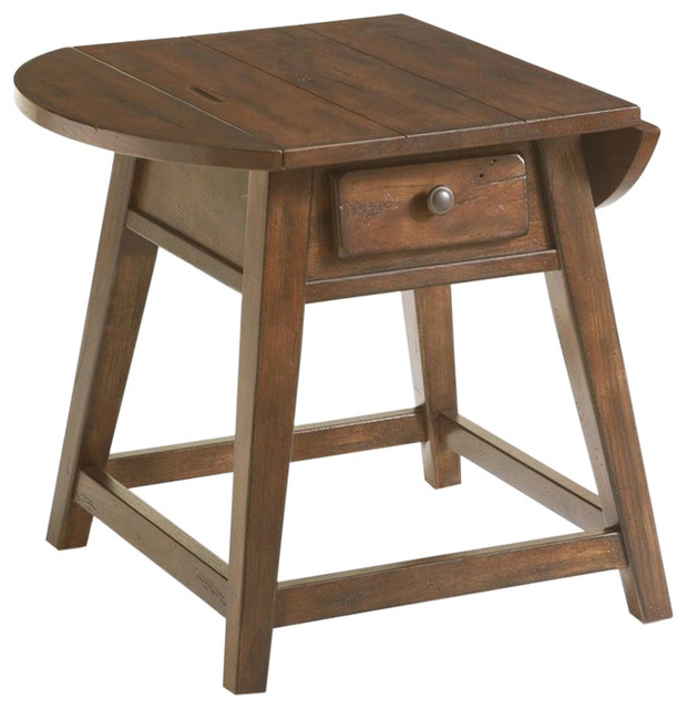 Broyhill Attic Heirlooms Splay Leg End Table Rustic Oak Contemporary Side Tables And End