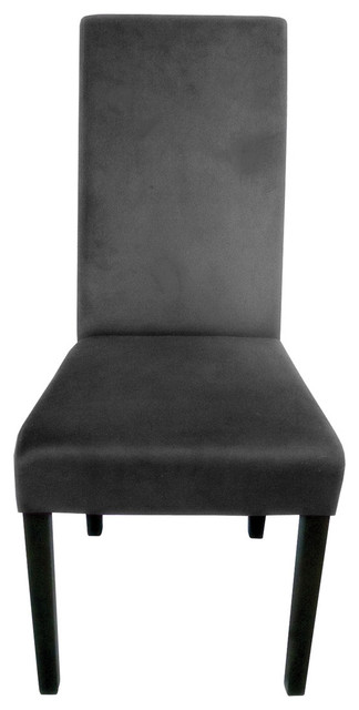 dining chair charcoal gray velvet contemporary dining chairs by