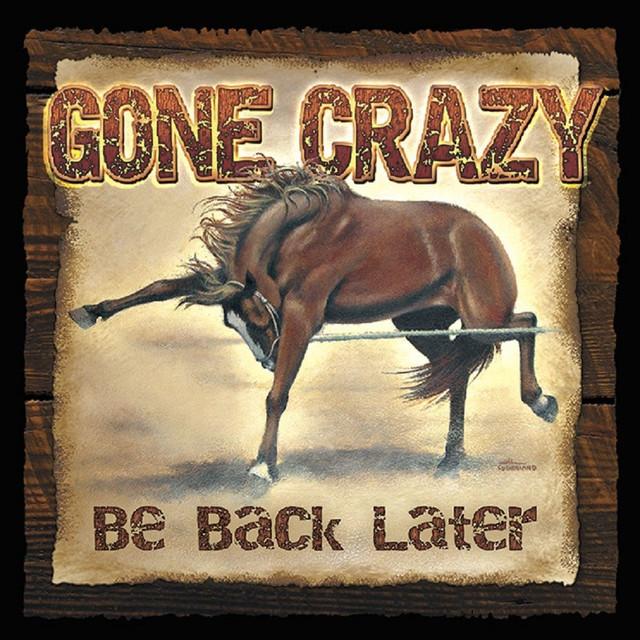 Gone Crazy Wild Horse Wood Sign