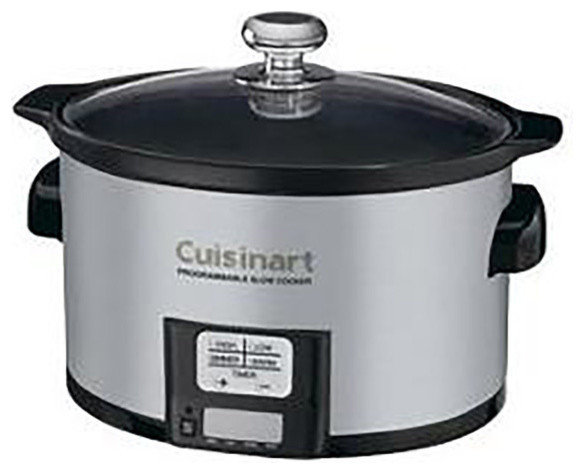 3.5-Quart Programmable Stainless Steel Slow Cooker.