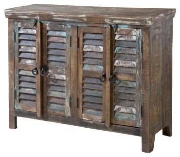 Stein World Bramore Louvered 4-Door Cabinet - Modern - Storage And Organization - by Hayneedle