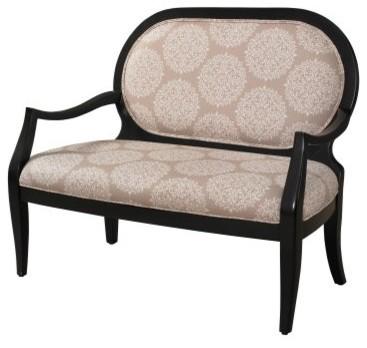 Awe Inspiring Powell Batik Pearl Black Framed Bench Inzonedesignstudio Interior Chair Design Inzonedesignstudiocom