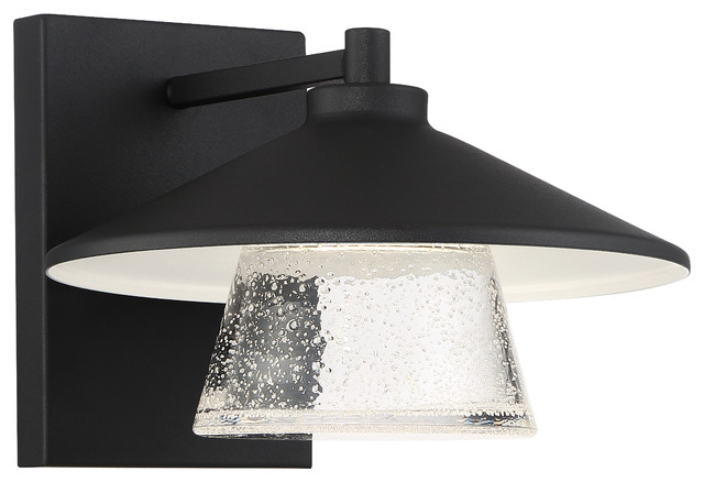 Silo, Marine Grade LED Outdoor Sconce, Black