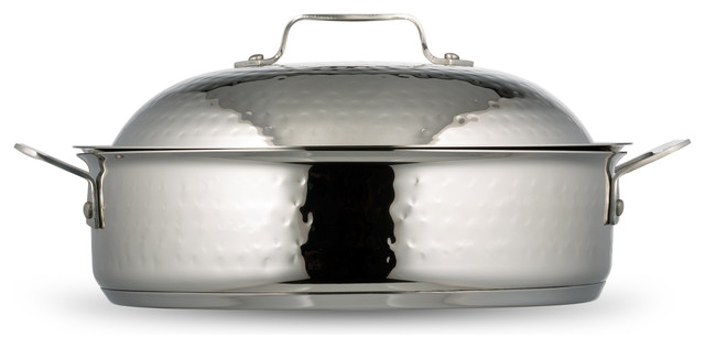 Cucina Saute Use With Lid, Hammered Finish, Induction Bottom, 4 Qt..