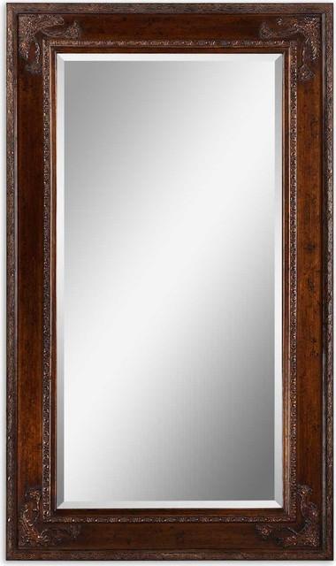 Edeva Antiqued Silver Leaf With Black Tones Mirror.