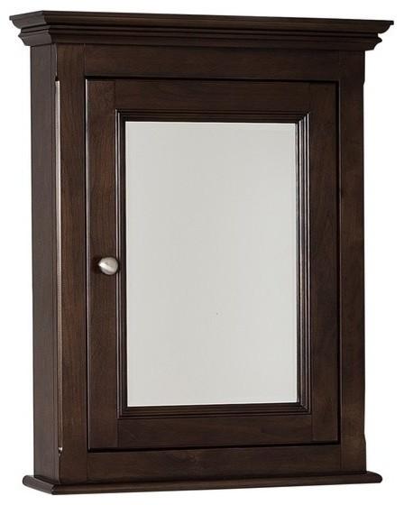 American Imaginations Perri AI-13-238 Birch Wood-Veneer Medicine Cabinet, Walnut - Traditional ...