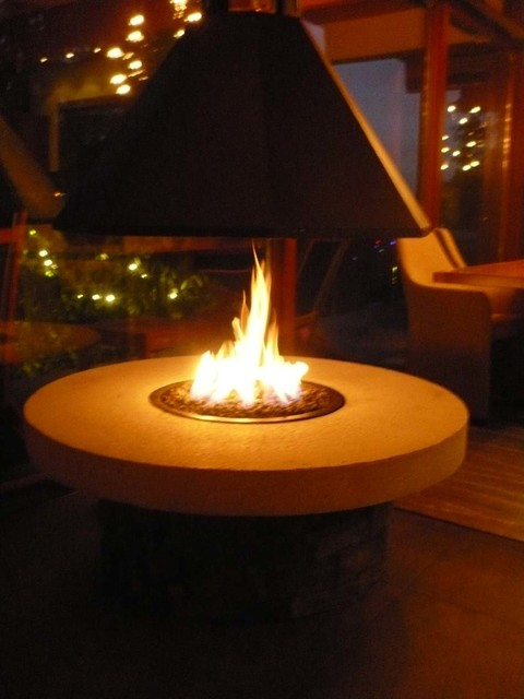Outdoor Fire Pit With A Suspended Hood Vancouver By