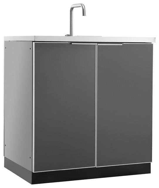 "Outdoor Kitchen 32""Wx24""D, Sink Cabinet"