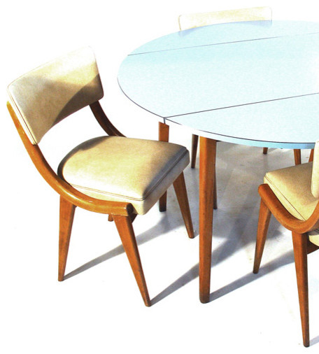 Circular Drop Leaf Table And Chairs Contemporary