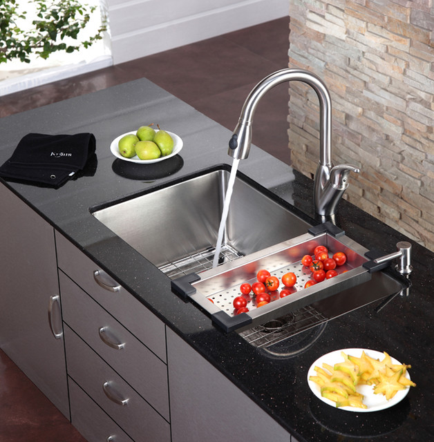 commercial kitchen plumbing design kraus kitchen sink colander modern colanders and 5635