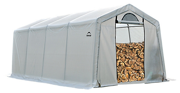 Firewood Seasoning Shed, 10&x27;x20&x27;x8&x27;.
