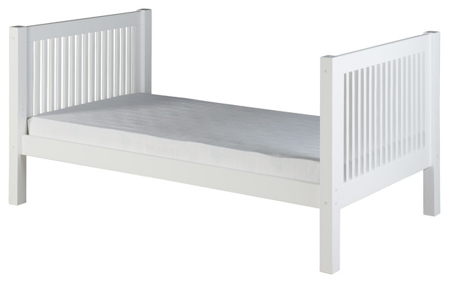 Camaflexi Twin Tall Platform Bed Mission Headboard Kids