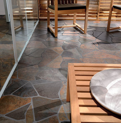 Rustic Stone Flooring Stepping Stone Kitchen Floor   Rustic   New York   Fiorano Tile