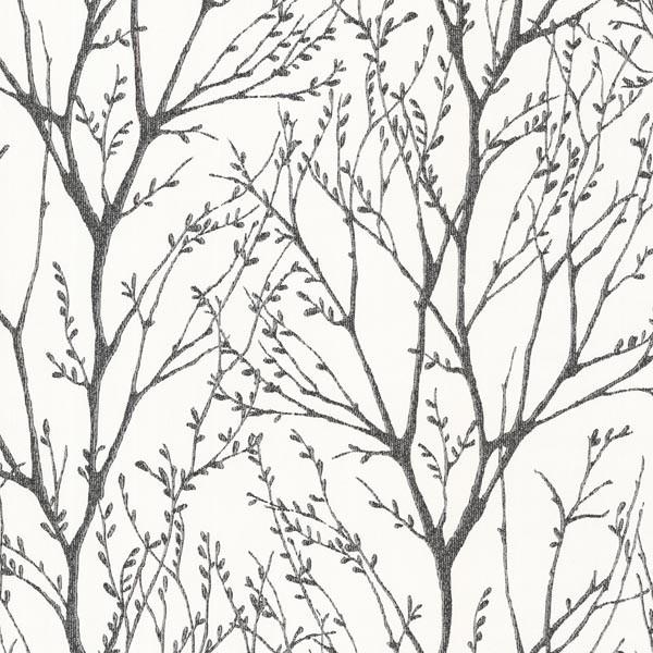 Delamere Black Tree Branches Wallpaper Contemporary Wallpaper