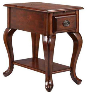 stand with shelves shenandoah cordovan chairsider utility table 2476