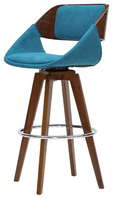 Astonishing Cyprus Fabric Bar Stool Santorini Teal Walnut Ocoug Best Dining Table And Chair Ideas Images Ocougorg