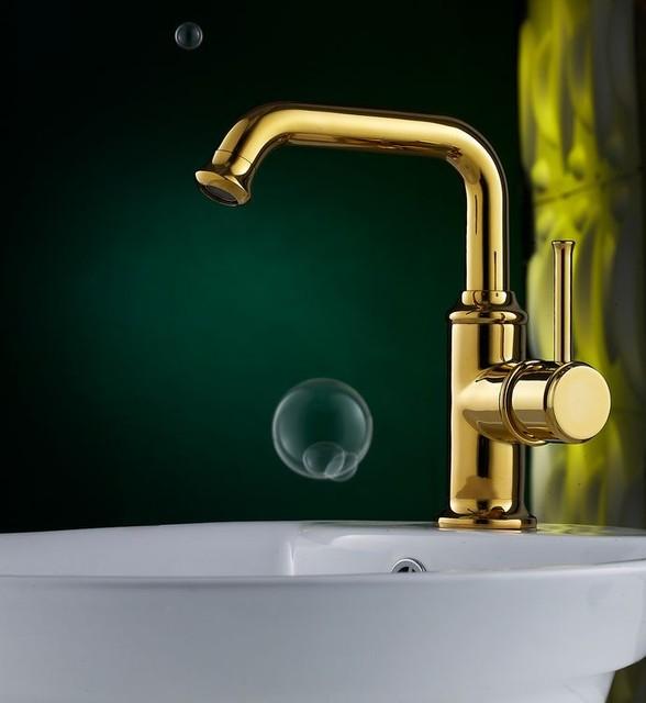 Brass Single Handle Bathroom Faucet : Brass Bathroom Faucet With Single Handle DL-4819H - Modern - Bathroom ...