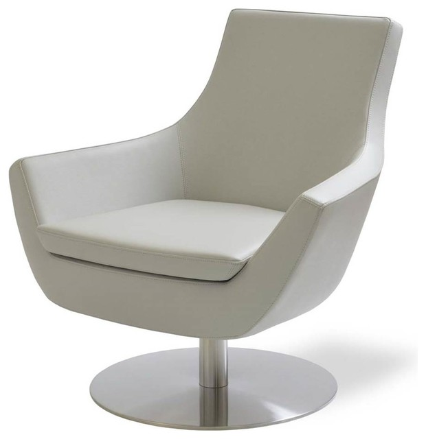 Merveilleux Swivel Occasional Chair, Light Gray