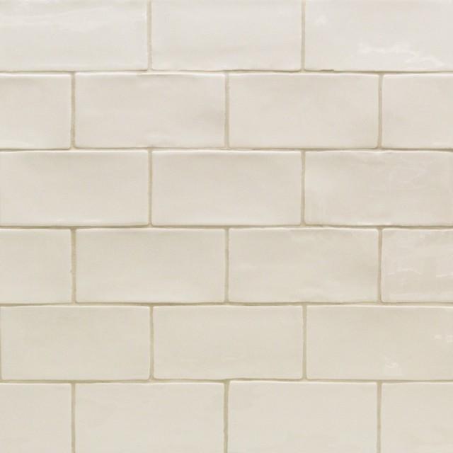 """Catalina 3""""x6"""" Ceramic Tile, Vanilla"""