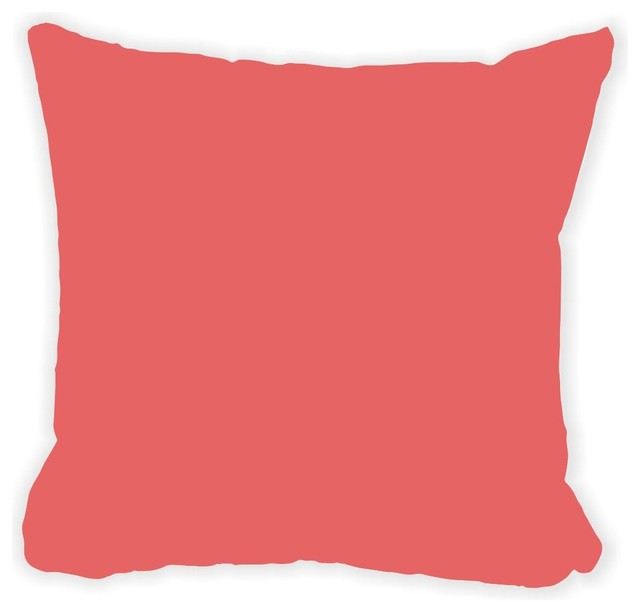 Salmon Pink Fall Winter Microfiber Throw Pillow With Fill