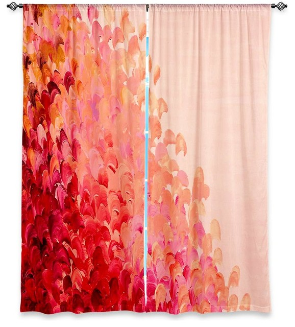 Shop Houzz | DiaNoche Designs DiaNoche Lined Window Curtains by ...