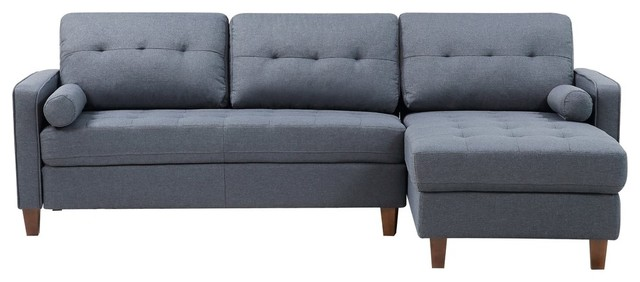 Weatherall Tufted Sectional, Dark Blue.