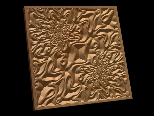 TMGW2 Wavy pattern Vector file for V- bit carving with software Vectric Aspire,