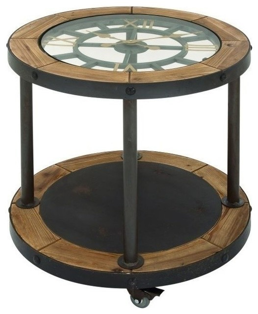 Bon Denton Clock Side Table   Industrial   Side Tables And End Tables   By  Ergode
