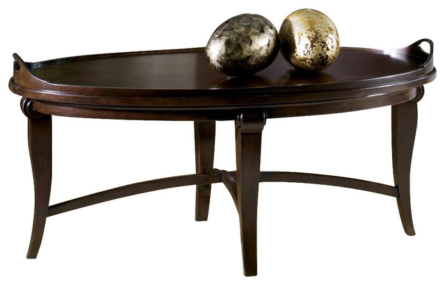 Metropolis Oval Tray Coffee Table.