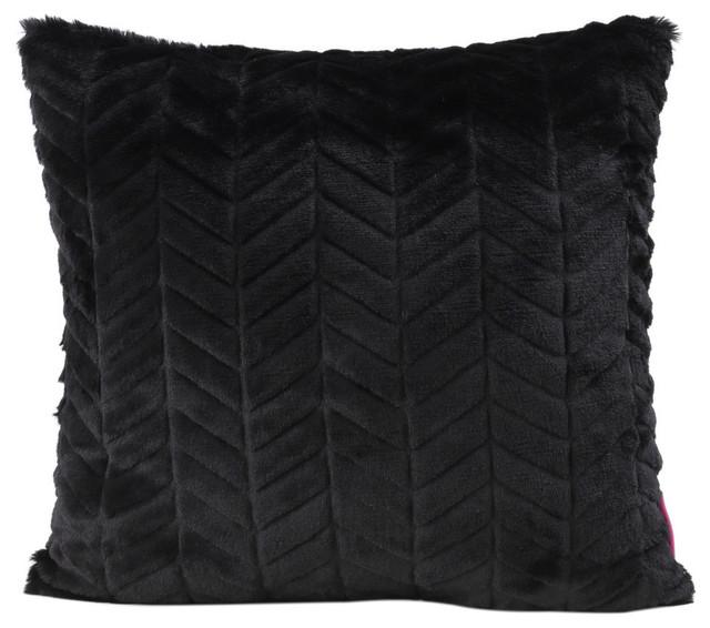 GDF Studio Ellison Fabric Pillow With Polyester Fiber Fill, Black, 1