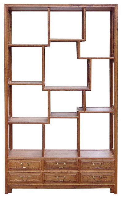 Golden Lotus Antiques Chinese Rosewood 8 Treasure Curio Display Cabinet Room Divider Hcs1502 ...