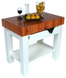 john boos 36 x24 cherry homestead block kitchen island contemporary kitchen islands and. Black Bedroom Furniture Sets. Home Design Ideas