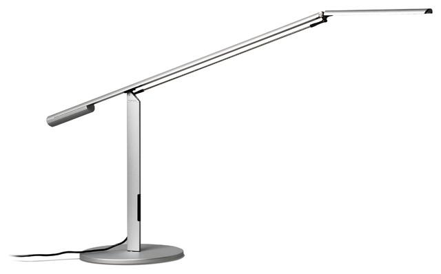 Koncept Equo Warm Light Desk Lamp, Silver.