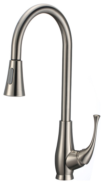 18 Single Handle Kitchen Faucet With Sprayer And Soap Dispenser