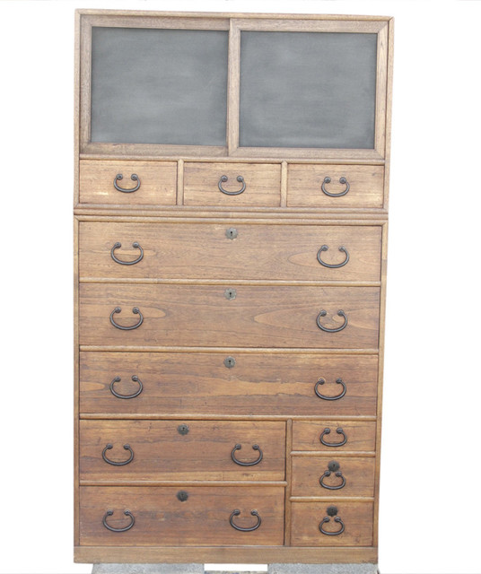 Consigned, 19th Century Japanese Tansu Tall Dresser Asian Dressers