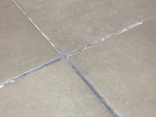 Bathroom Grout Cracking And Developing Brown Residues Help - Bathroom tile grout cracking
