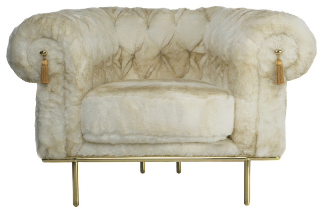 Chesterfield Sofa With Accent Chairs.Chesterfield Faux Fur Armchair