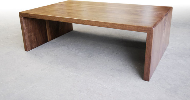 Walnut Waterfall Coffee Table Contemporary Coffee Tables Other By Brandner Design