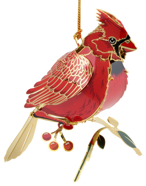 3d Cardinal Ornament Traditional Christmas Ornaments