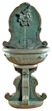 Hummingbird Garden Wall Water Fountain Traditional