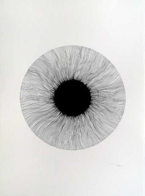 Tehos, Black Eye 05, Original, Drawing.