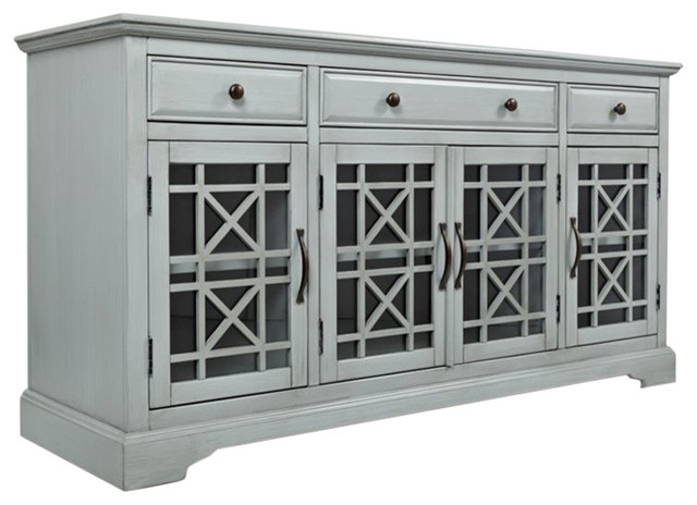 "Craftsman 60"" Media Console, Earl Gray."