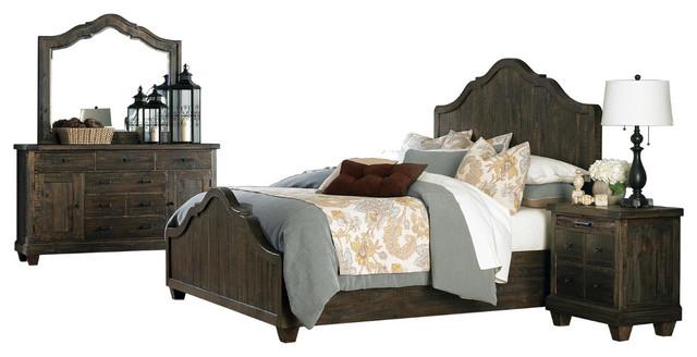 Magnussen Brenley 4 Piece Panel Bedroom Set, Queen