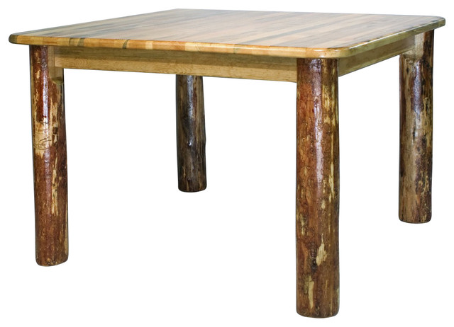 Montana Woodworks 4-Post Square Dining Table In Glacier Country.